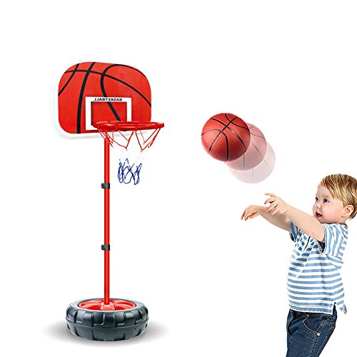 - INvench Adjustable Bastekball Set Sport Game - Indoor Outdoor Portable Adjustable Basketball Stand & Hoop for 6+ Children Kids