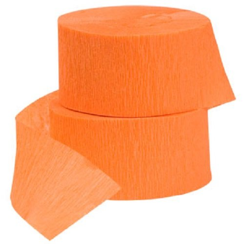 4 ROLLS Crepe Paper Streamers 290 ft Total-Made in USA (Orange) (Crepe Paper Streamers Orange compare prices)