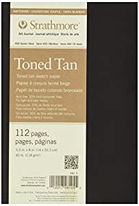 """Strathmore Toned Sketch Softcover Journal 5.5""""X8""""-Tan 56 Sheets"""