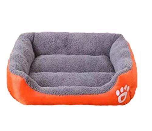 GaoMiTA Winter New Footprints Cotton Velvet pet nest Pet Supplies Candy color Kennel Teddy Bomei Kennel mat