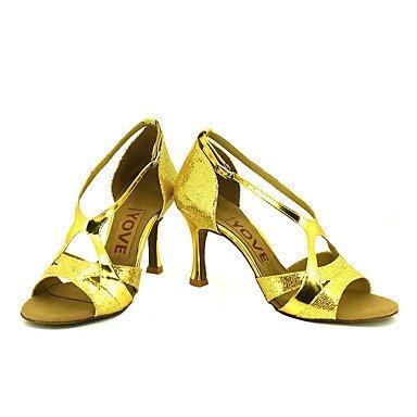 XIAMUO Anpassbare Frauen Beruf Tanz Schuhe, Gold, Us8.5/EU39/UK6.5/CN 40