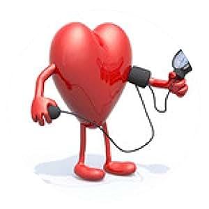 alfombrilla de ratón corazón con los brazos y las piernas medirse la tensión arterial - ronda - 20cm