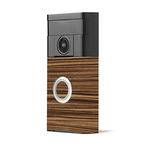 MightySkins Skin for Ring Video Doorbell - Dark Zebra Wood | Protective, Durable, and Unique Vinyl Decal wrap Cover | Easy to Apply, Remove, and Change Styles | Made in The USA