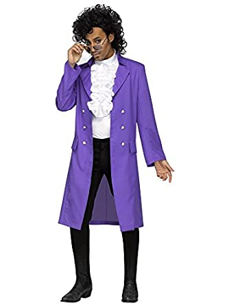 Amazon.com: Purple Rain Plus Jacket Adult Costume: Clothing