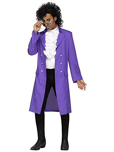Party 1980s Costume Theme Ideas (Fun World Men's Rain Jacket Costume, Purple, Plus)