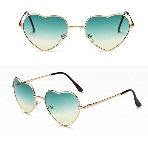 de Corazon Retro Portección la para Conducción Polarizado Gafas Nikgic Sol Gafas Deportiva UV de Amor Sol Mujer PWx68wB5Yq