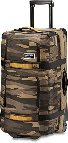 Dakine - Unisex Split Roller Luggage Bag - Durable Construction - Split-Wing Collapsible Brace Level - Exterior Quick Access Pockets (Field Camo, 110L)