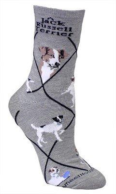 Jack Russell Terrier Socks - Gray