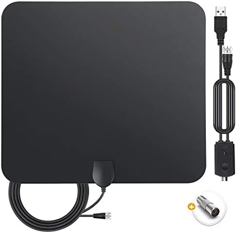 TV Antenna, 2020 Indoor Amplified Digital HDTV Antenna 200 Miles Range with Amplifier TV Signals, 4K 1080P HD VHF UHF for Local Free HD TV Channels Support All TV- 18 FT Coax Cable