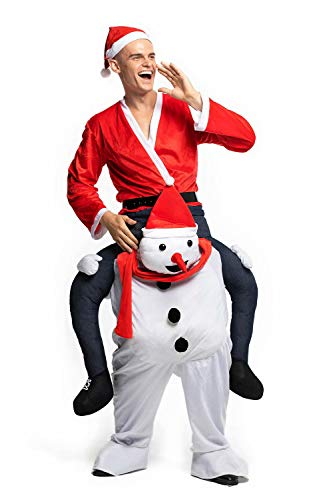 Christmas Piggyback Costumes Funny Carry Ride On Me Shoulder Snowman Costumes Fancy Dress