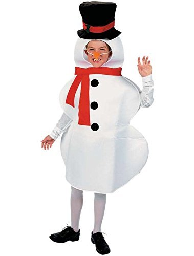 Fun Express Snowman Winter Holiday Child Costume Photo NWT 4-14 Years