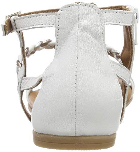 Sandales 22 white Blanc 28043 Femme Cheville Bride Comb 197 1 1 Tamaris 1IqwT64
