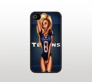 Texans Snap-On Case for Apple iPhone 5 - Hard Plastic - Black - Cool Custom Cover - Football