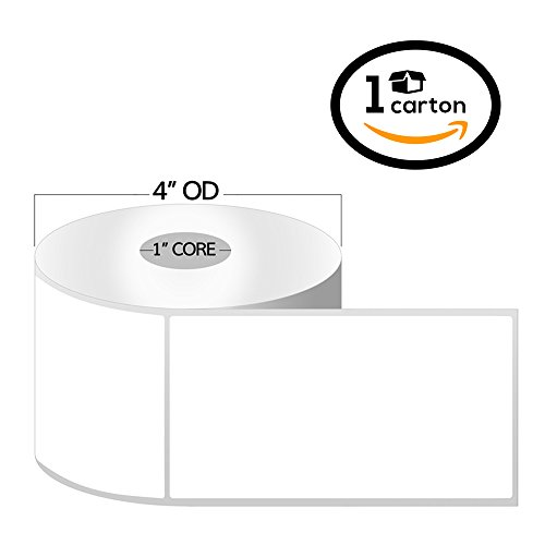 1 inch - 4 x 6 Zebra Compatible Direct Thermal Labels 1 Roll for Zebra Desktop Printer (1 Carton 20 Rolls) by OfficeSmartLabels
