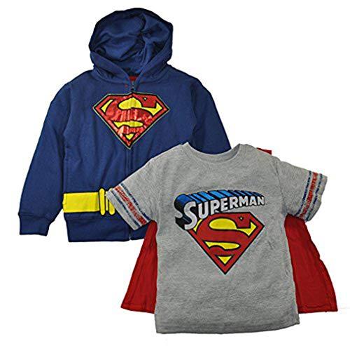 Batman Vs Superman Little Boys Hoodie T-shirt & Cape 3pc Set (2T, -
