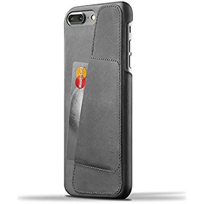Mujjo Leather Wallet Case for iPhone Plus Grey