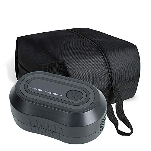 Denshine Black Mini CPAP Cleaner, Portable CPAP Cleaner and Sanitizer Includes Sanitizing Bag, CPAP Cleaner Disinfector for Masks, Cushion, 22mm Diameter of Tubing and Household Sterilization Cleaning from Denshine