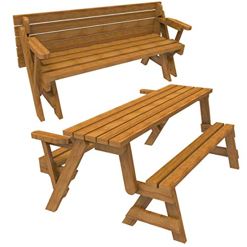 (WoodworkersWorkshop Woodworking Plan to Build a Convertible Folding Bench/picnic Table (Not a RTA Kit))