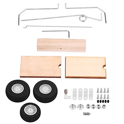 Dilwe Airplane Landing Gear, KT DIY Fixed Wing Model Aircraft Landing Gear Wheel Universal Set of RC Airplane Accessories