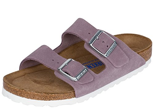 Birkenstock Unisex Arizona Lavender Sandals - 5-5.5 2A(N) US (Lavender Leather Footwear)