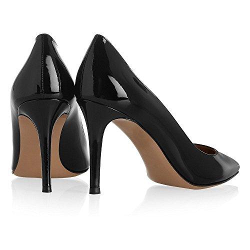 Taille Enfiler B Noir Pointues Chaussures Grande Escarpins Heels Quotidiennement Ubeauty Femmes A High Des Toe 4fw47xqE