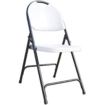 Amazon Com Lifetime 42804 Folding Chair White Granite
