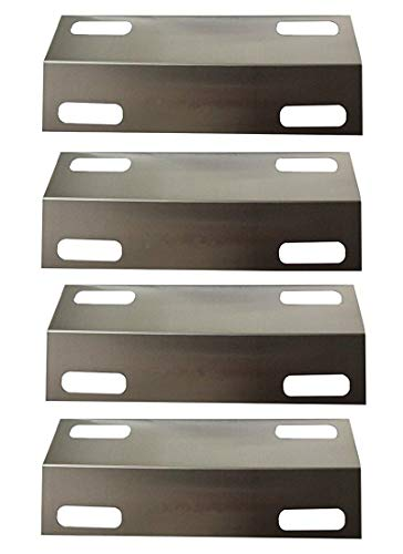 "Hongso SPI351 (4-Pack) Stainless Steel Heat Plate, Heat Shield, Heat Tent, Burner Cover, Vaporizor Bar, and Flavorizer Bar Replacement for Select Ducane Gas Grill Models (15 3/8"" x 6"")"
