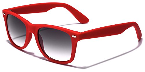 Colorful Retro Fashion Sunglasses - Smooth Matte Finish Frame - ()