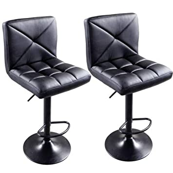 Wondrous Amazon Com Canvoi 2Xblack Pu Leather Modern Adjustable Inzonedesignstudio Interior Chair Design Inzonedesignstudiocom
