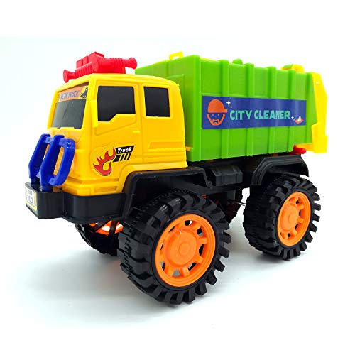 Price comparison product image Kid Engineering Toy Cars Friction Powered Push Engineering Vehicles (Sanitation car)