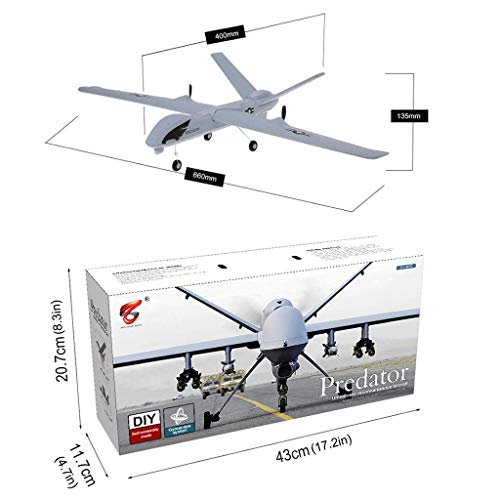 DIY RC Airplane Eemote Control --Z51 2.4G EPP 660mm Wingspan Built-in stability Gyro System/EPP Anti-collision Material --With Light Bar DIY RC Airplane RTF(Install Light Bar fly at night) Cool by COLOR-LILIJ (Image #7)