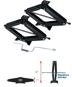 "Ultra-Fab Products 48-979002 - Ultra Scissor Jacks - 24"" with Hand Crank"
