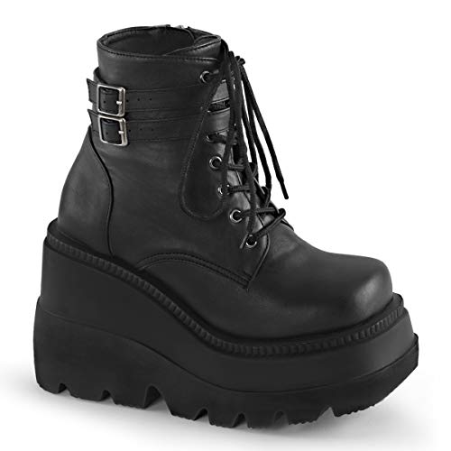 Demonia Women's Sha52/Bvl Boot, Black Vegan Leather, 7 M US