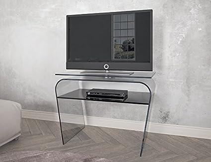 Tavolo Porta TV in vetro con piano girevole. Porta tv moderno. Cm ...