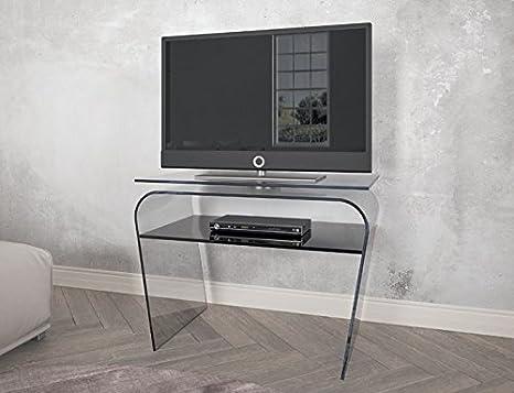 Tavolini In Vetro Porta Tv : Tavolo porta tv in vetro con piano girevole. porta tv moderno. cm