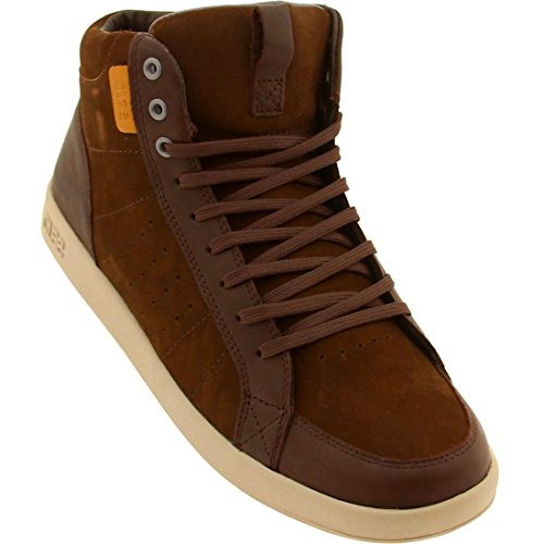 Clae Men's Russell High-Top Sneaker, Chocolate Umber, 8 M US
