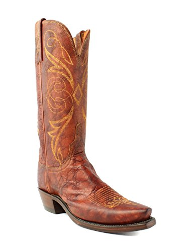 Lucchese N9633.54 Womens Cognac Brown Arizona Calf Leather Cowboy Western Boots