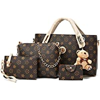 Set of 4 pcs ladies bags with keychain