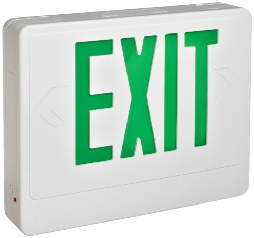 (Morris Products LED Exit Sign - Remote Capable - Green With White Housing - Battery Backup - Automatic, Low Voltage Disconnect - Compact, Low-Profile Design -Energy Saving, High Output - 1 Count)