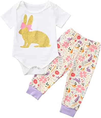 f30695990 Tantisy ♧↭♧ Easter Bunny Clothes Baby🐾 Newborn Infant Kids Girls Boys  Rabbit Outfits