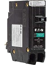 Eaton BRP120AF 20 amps Combination AFCI Single Pole Circuit Breaker, black