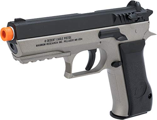 Evike Magnum Research Jericho 941 Baby Desert Eagle Airsoft CO2 Pistol by Cybergun (Color: Black & Grey)