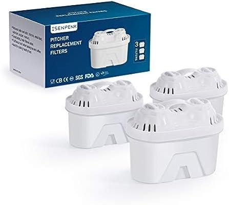 ISENPENK 3X Cartuchos de Filtros, Kit de Filtros de Agua sin BPA ...