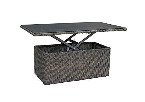 Gartentisch-Esstisch-Loungetisch-Couchtisch-Liftfunktion-4466-cm-Poly-Rattan