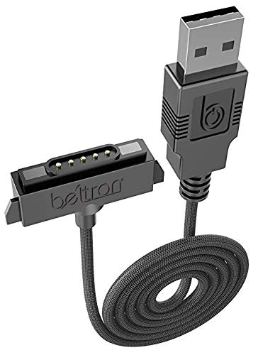 Sonim XP5/XP6/XP7 Charger, Heavy Duty Braided USB Charge/Sync Cable with Magnetic Contacts (AT&T Sprint Verizon XP5700/XP6700/XP7700 Sonim Replacement Cable)