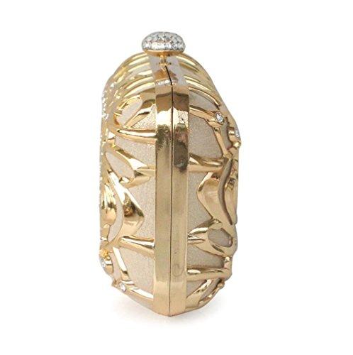 Plata de Bolso Bolso SHISHANG Oro Noche Femenino del del del Noche del de Recorte ZYXCC Diamante Bolso Color del Bolso q4wH5
