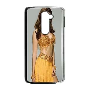 LG G2 Cell Phone Case Black_Kelly Brook Yellow Dress Lpfdq