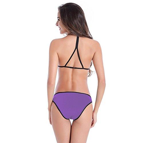 Bikini para las mujeres,Nuevo estilo de bikini colorido para la fiesta de la piscina púrpura