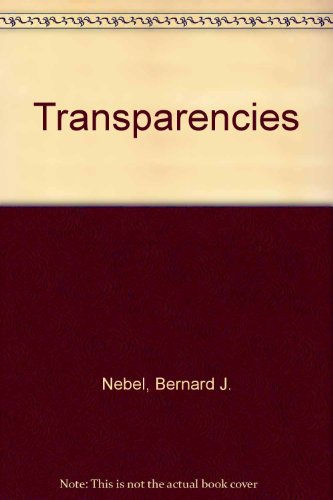 Environmental Science, Toward a Sustainable Future: Transparencies