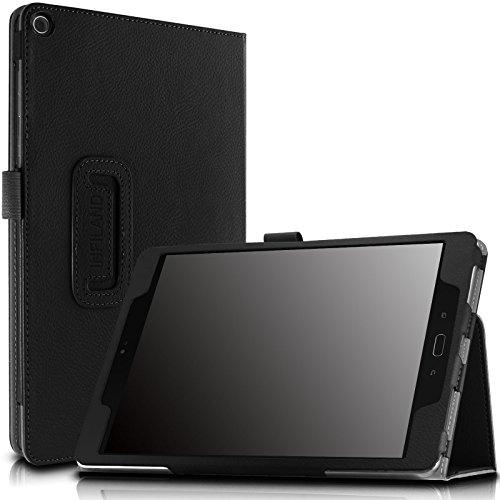 Infiland Verizon Asus ZenPad Z10 / ASUS ZenPad 3S 10 Case - Folio Premium PU Leather Smart Case Cover for Verizon Asus ZenPad Z10 ZT500KL / ASUS ZenPad 3S 10 Z500M 9.7-Inch Tablet, Black